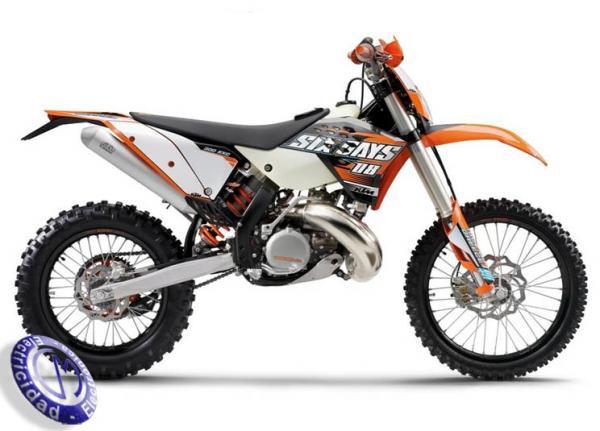 MOTOCICLETA KTM modelo 300EXC-E-SIX-DAYS