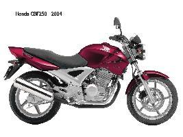 MOTOCICLETA HONDA modelo CBF250