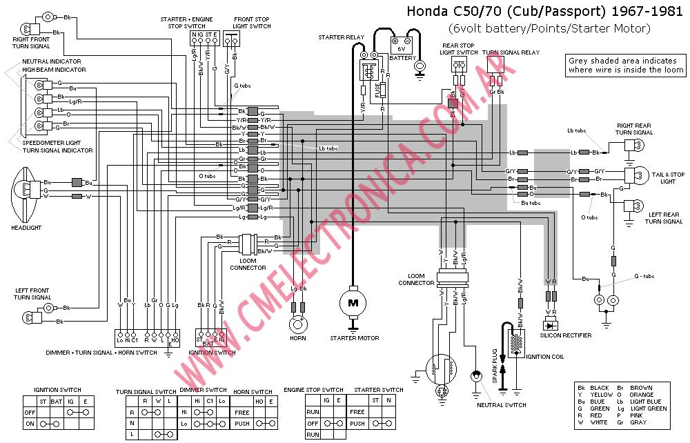 honda c70 81 honda 50 wiring diagram efcaviation com honda c70 wiring diagram at gsmx.co