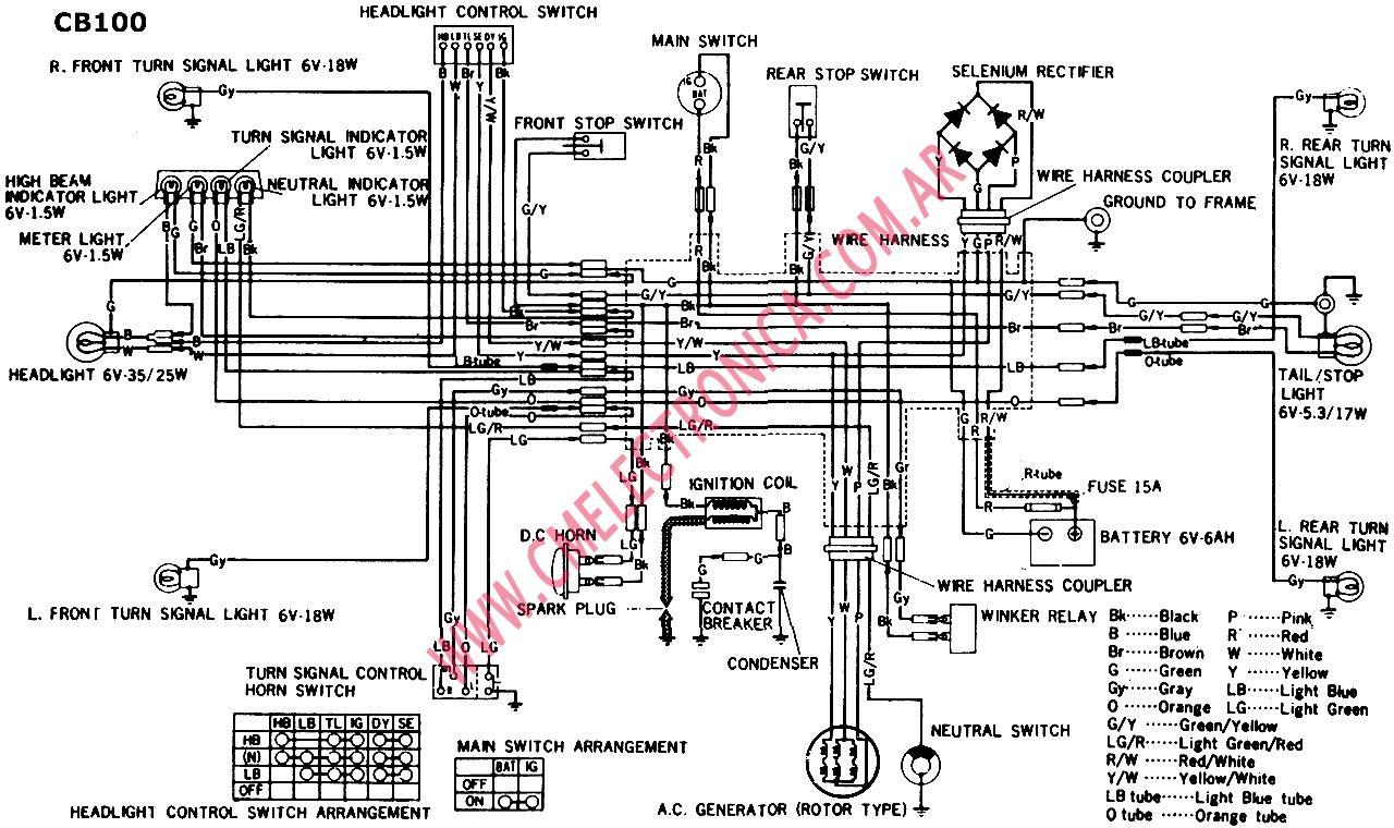 Diagrama Honda Cb100