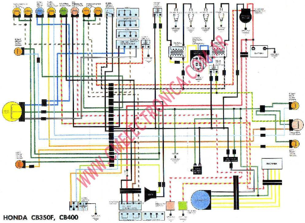 Diagrama Honda Cb350f Cb400