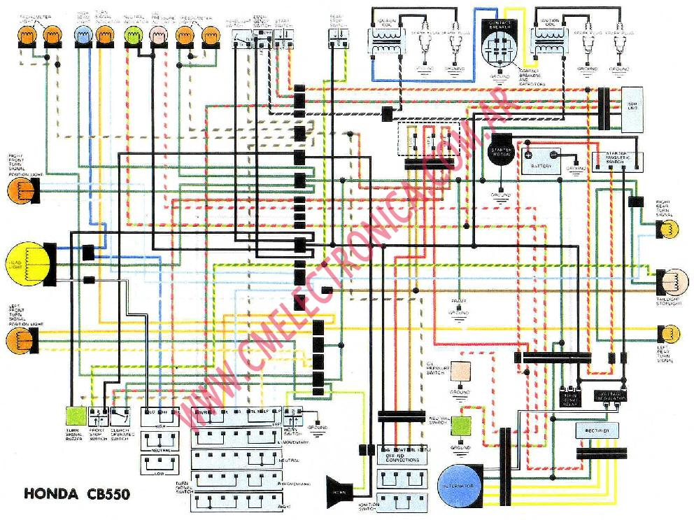 honda cb550 wiring diagram razor e wiring diagram razor automotive rh chemv tripa co Honda CB 1978 Honda Cafe Racer