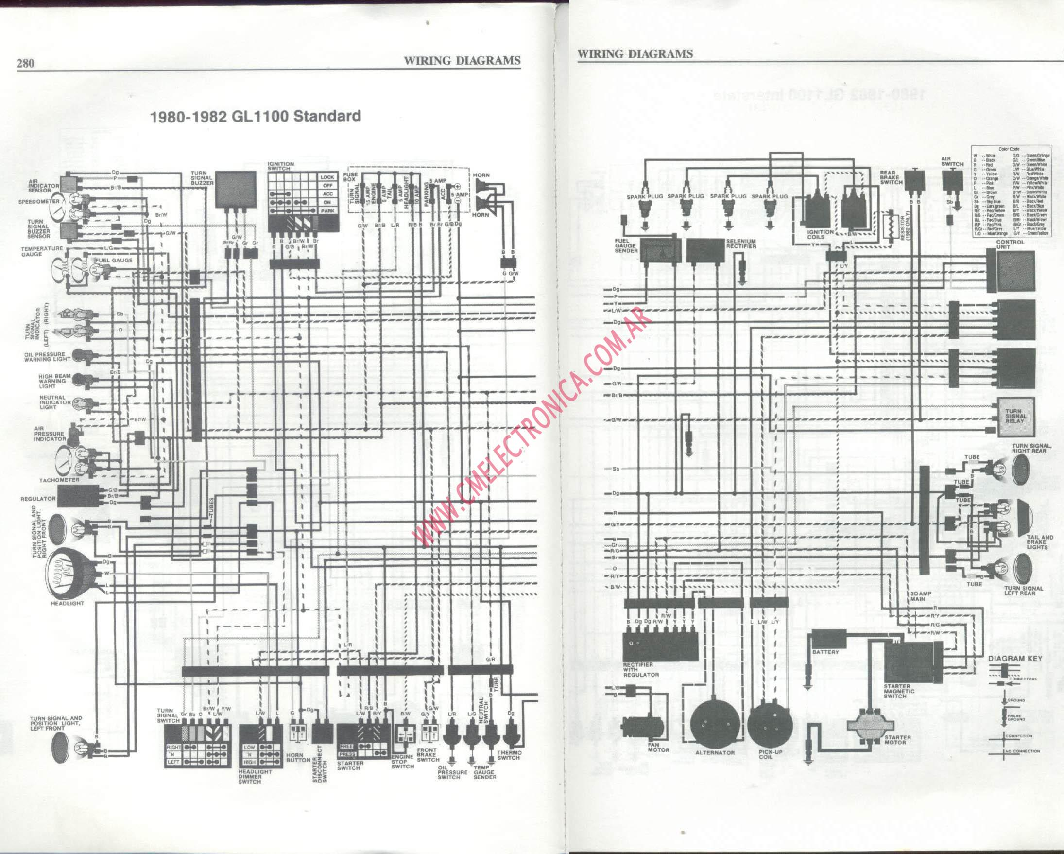 Goldwing 1100 Wiring Diagram Diagrams 1500 Cb Diagrama Honda Gl1100 2003trunk 1983