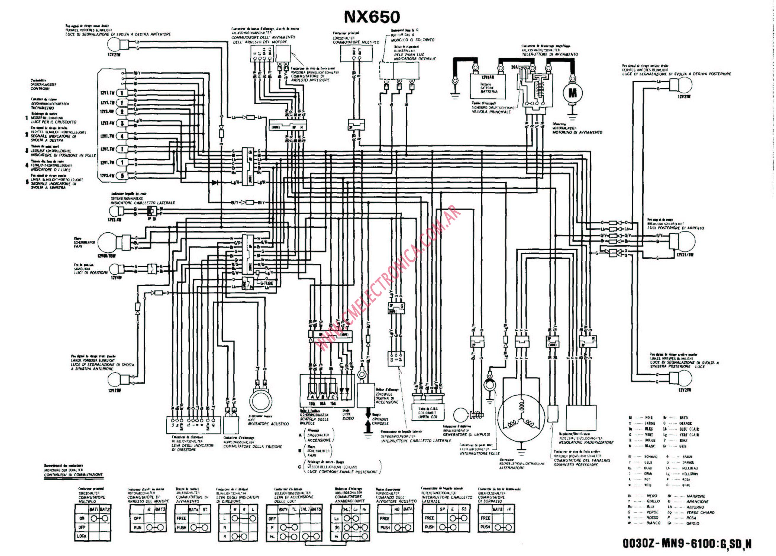 Nx650 Wiring Diagram Wiring Diagram Home