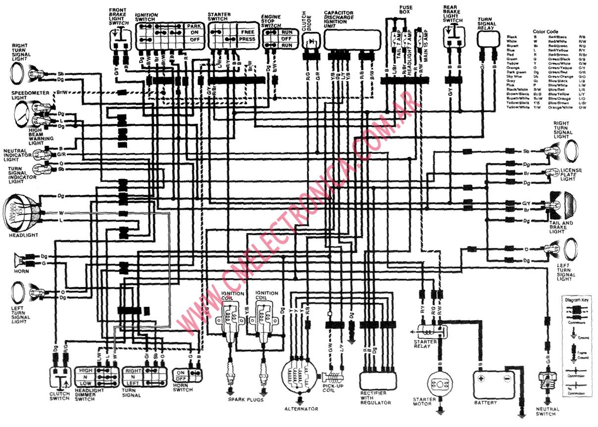 1986 honda rebel wiring harness diagram diagrama honda rebel cmx250 87 89 #11