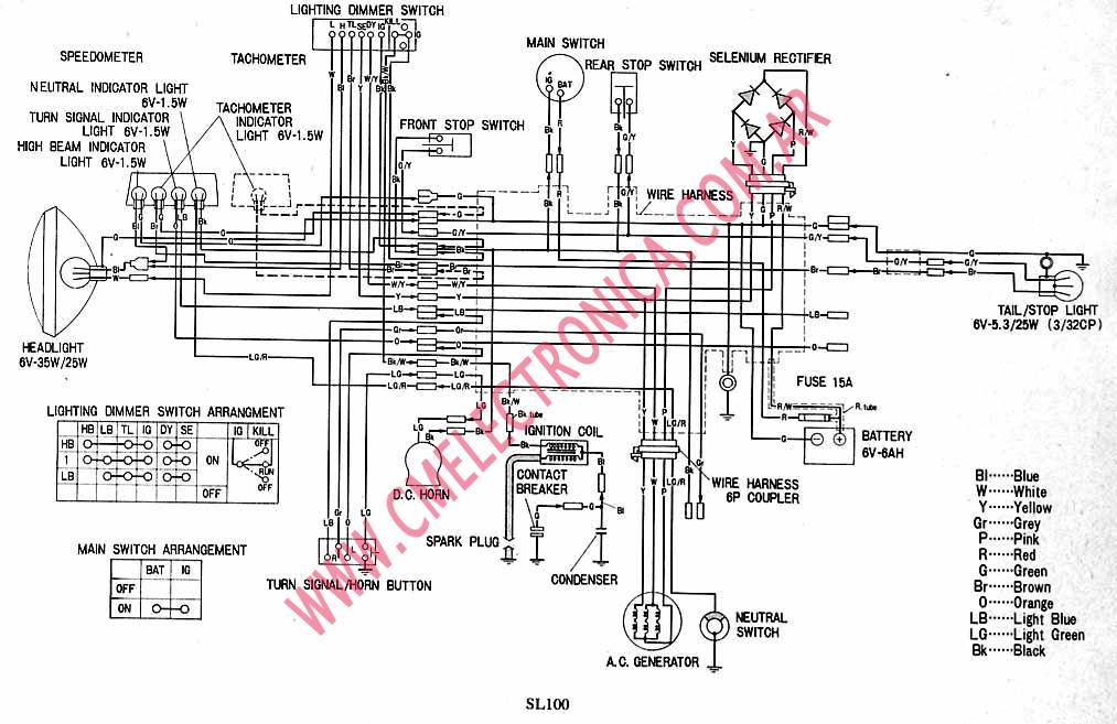 diagrama honda sl100  diagrama  free engine image for user