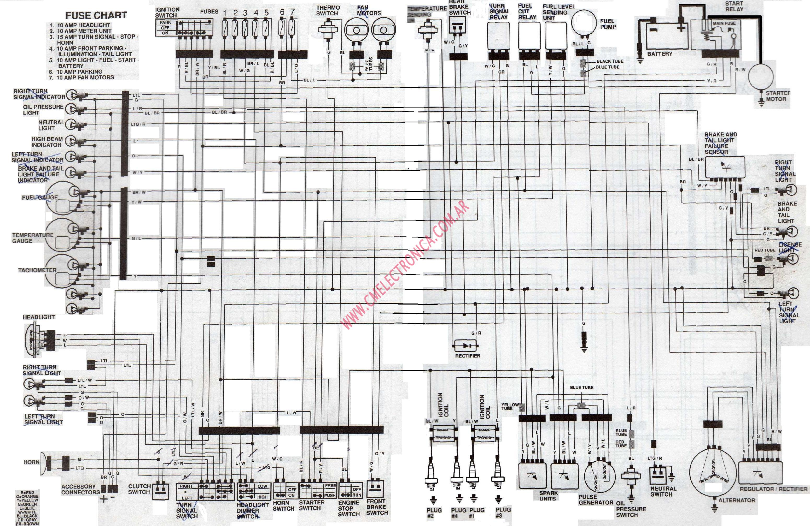 Diagrama Honda Vf750 83 87
