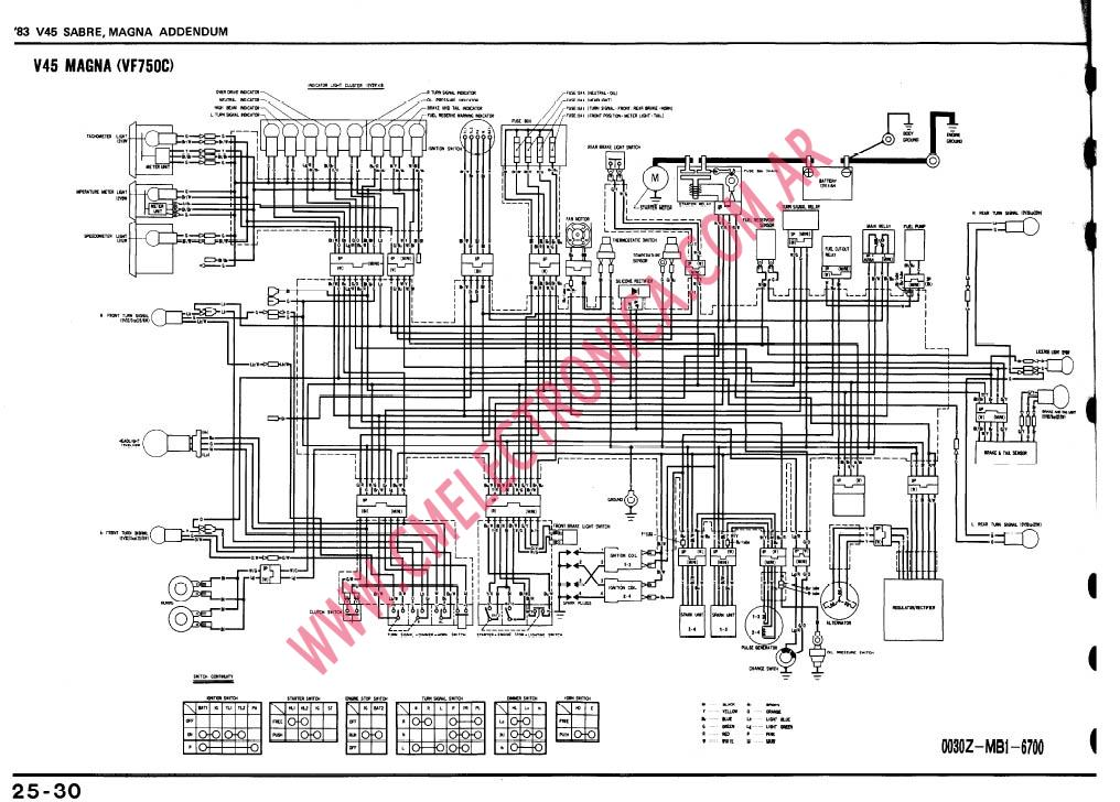 1985 honda shadow 750 wiring diagram