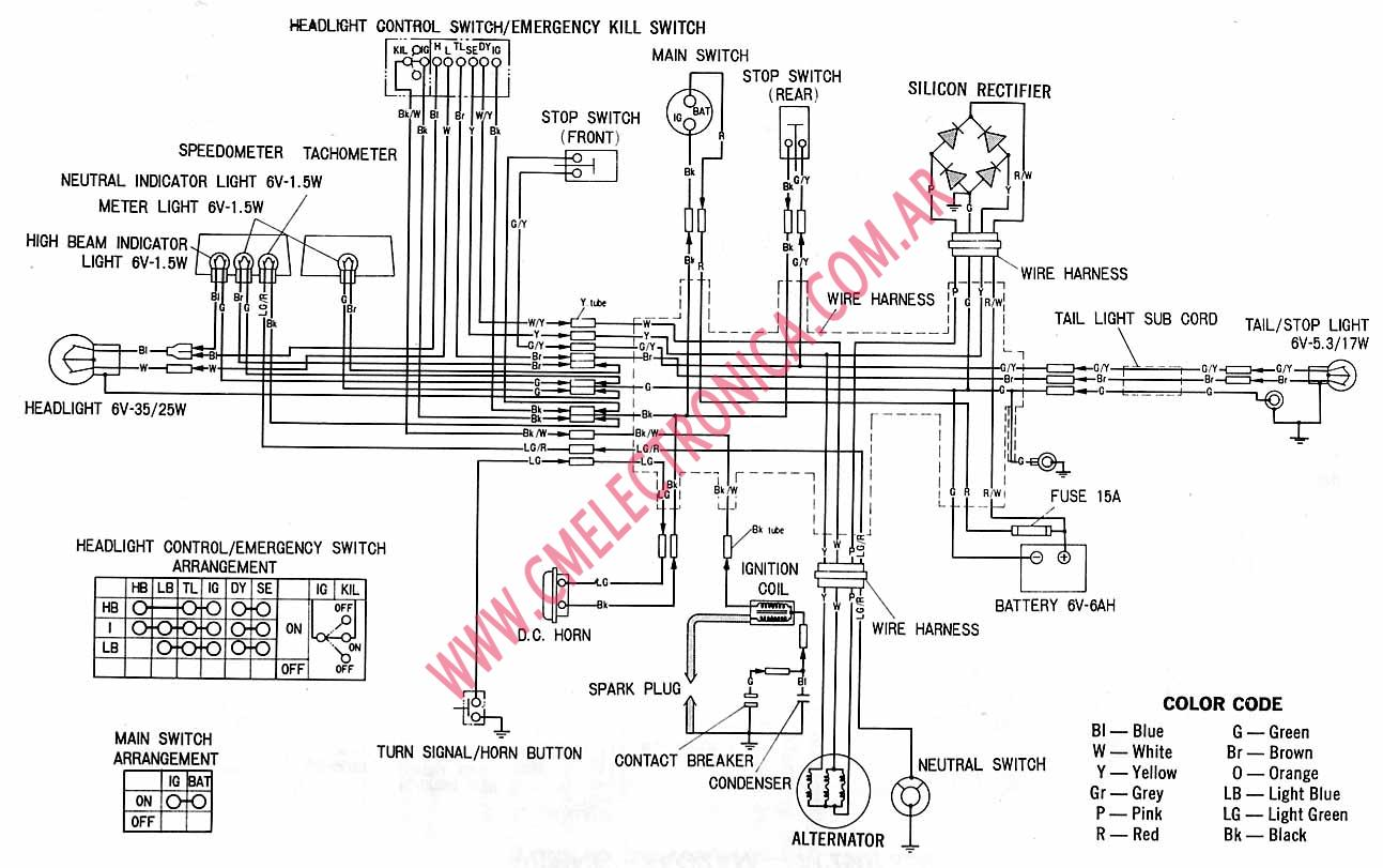 Honda Xl on Wiring Diagram For 1997 Softail