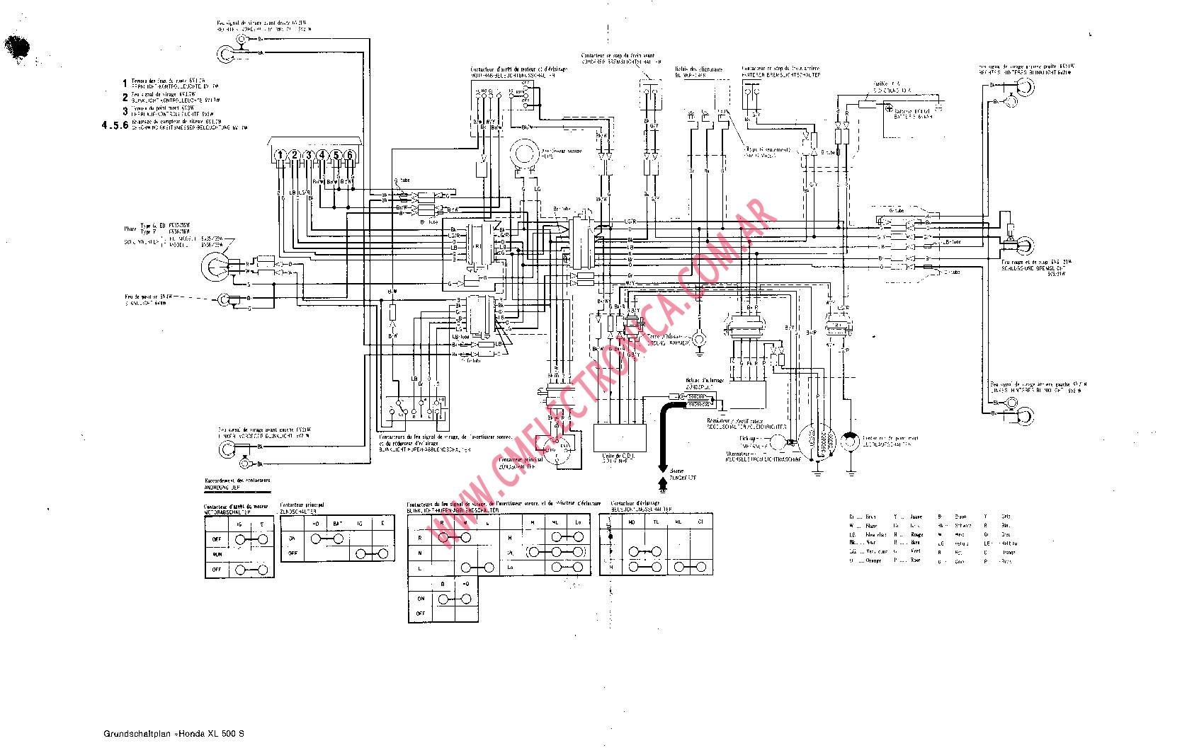 honda xl 500 wiring diagram