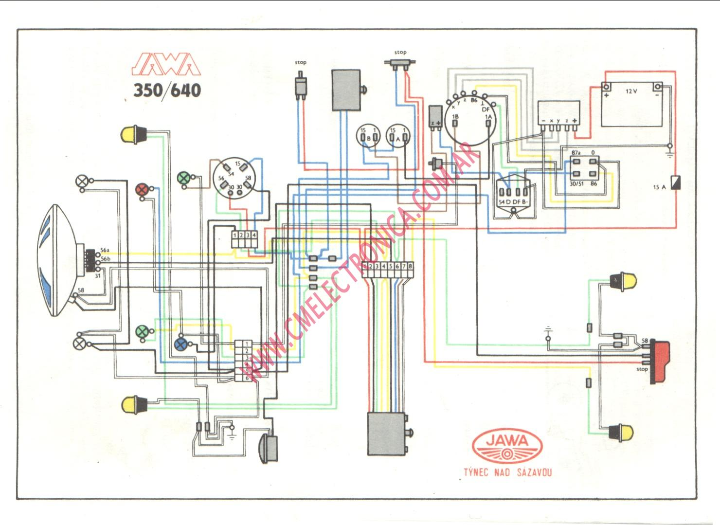 Jawa 350 Wiring Diagram Great Installation Of 96 Engine As Well Harley Sportster Also Diagrama 640 Rh Cmelectronica Com Ar Chevy 1986 C20 Wire Diagrams
