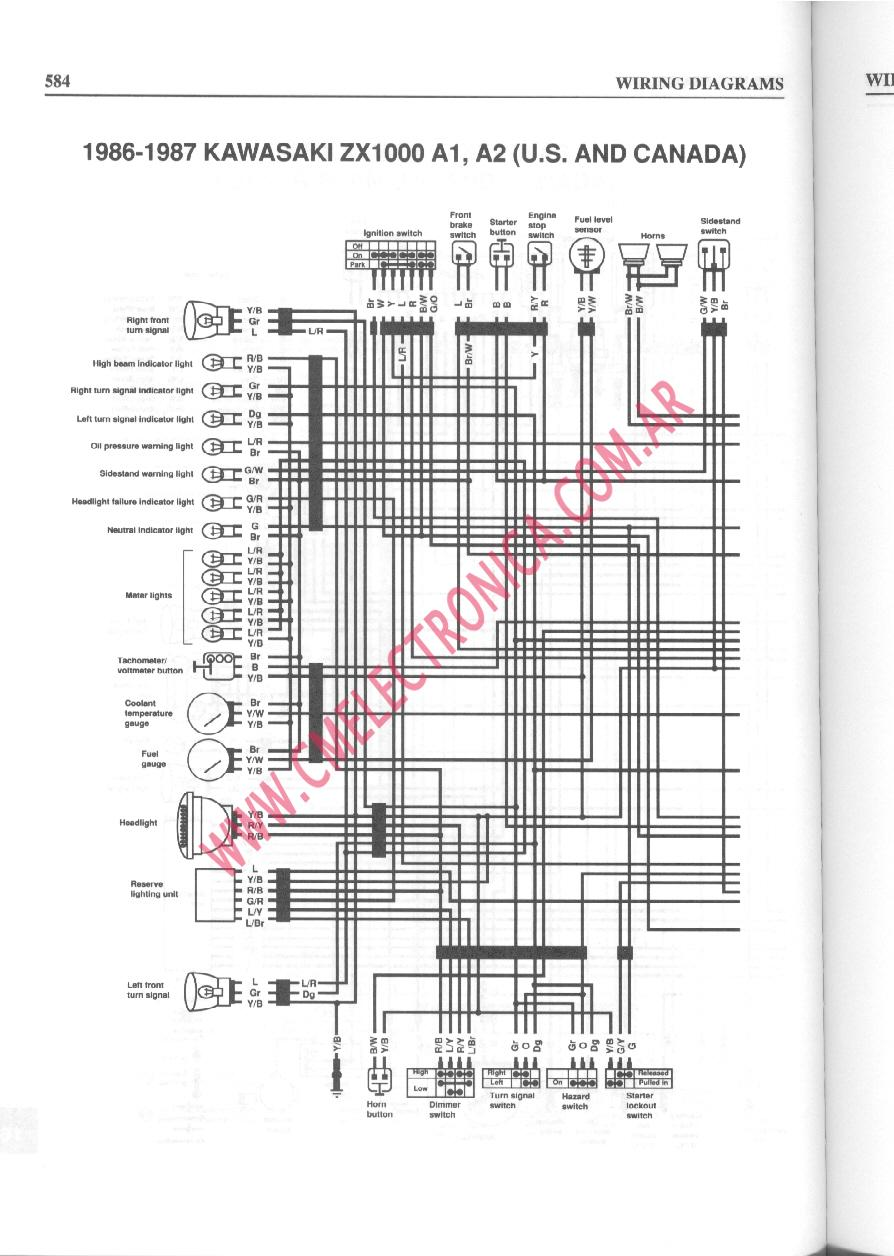 89 yamaha 1000 wiring diagram