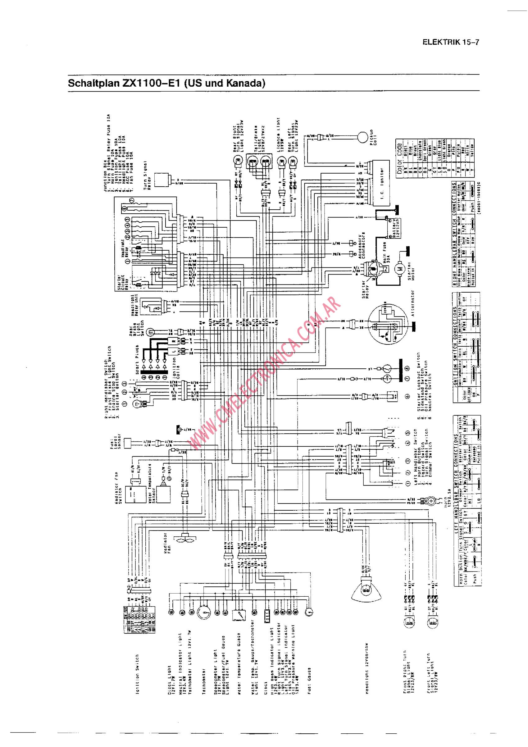 Kawasaki Gpz 400 Wiring Diagram Great Design Of 550 1100 And Sale