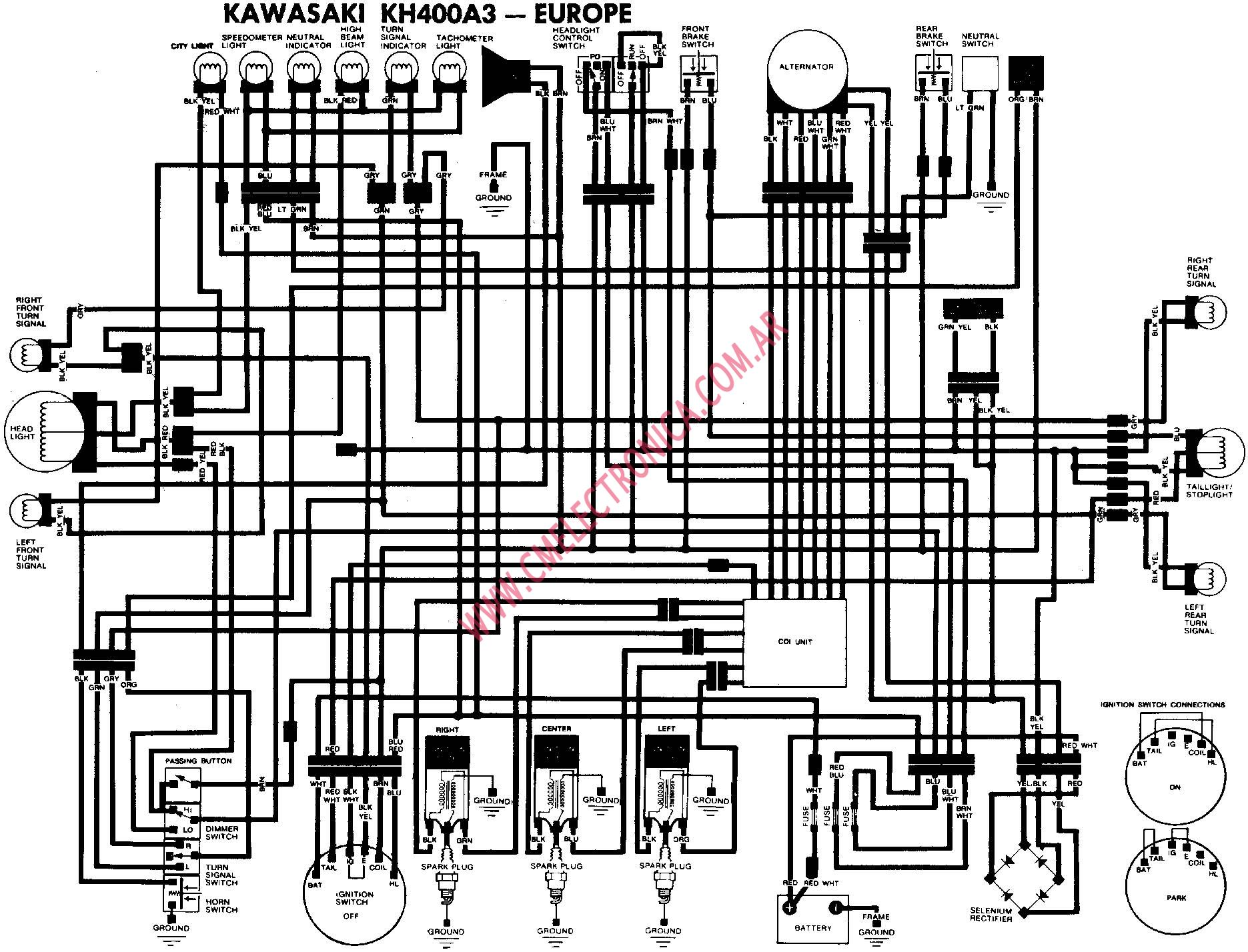 diagrama kawasaki kh400a3 eu