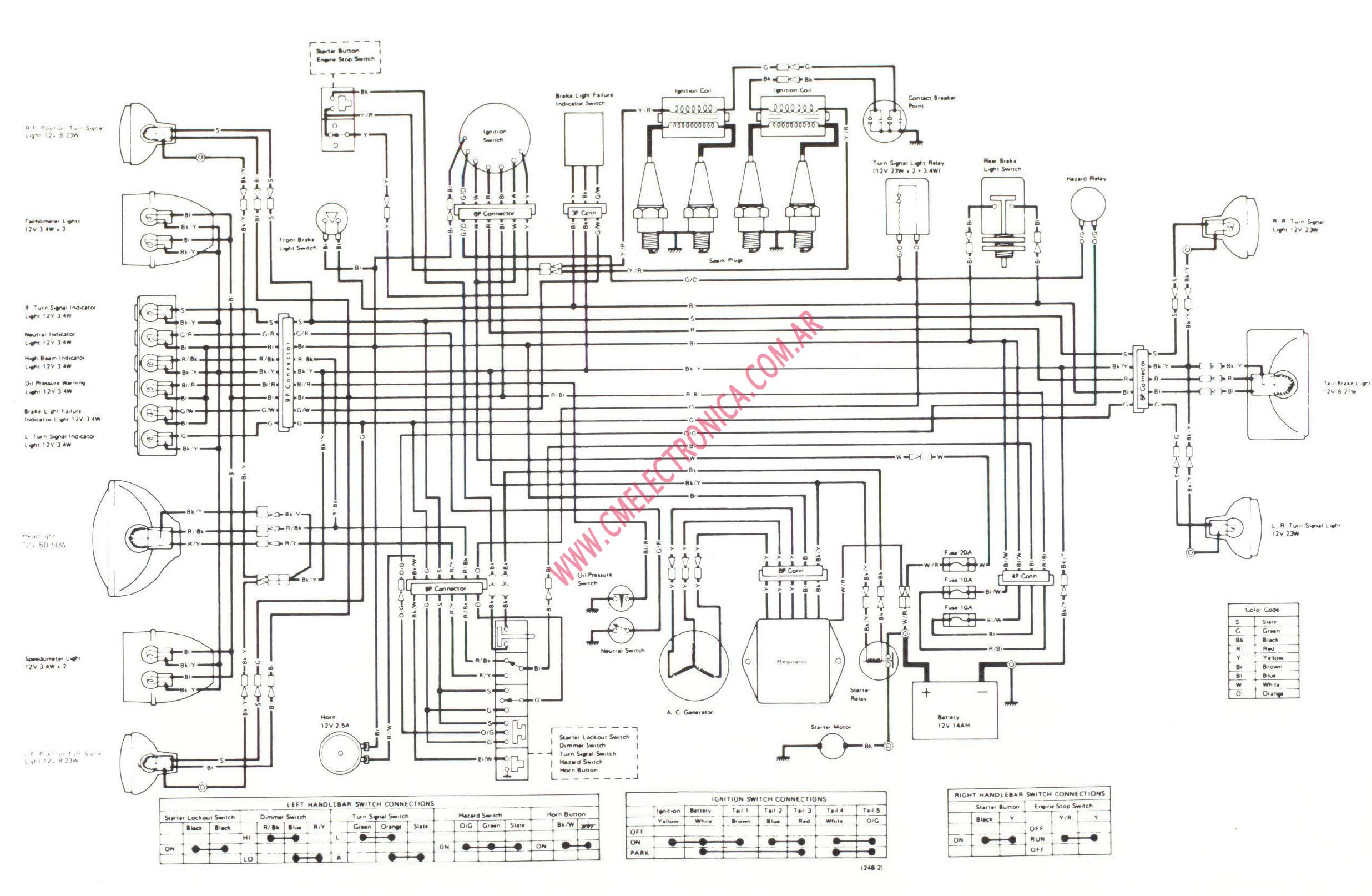 Kawasaki Motorcycle Wiring Diagrams 83 Schematic 2019 1982 Gpz 750 Diagram Get Free