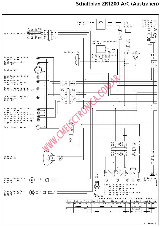 Kawasaki Zrx 1200 Wiring Diagram