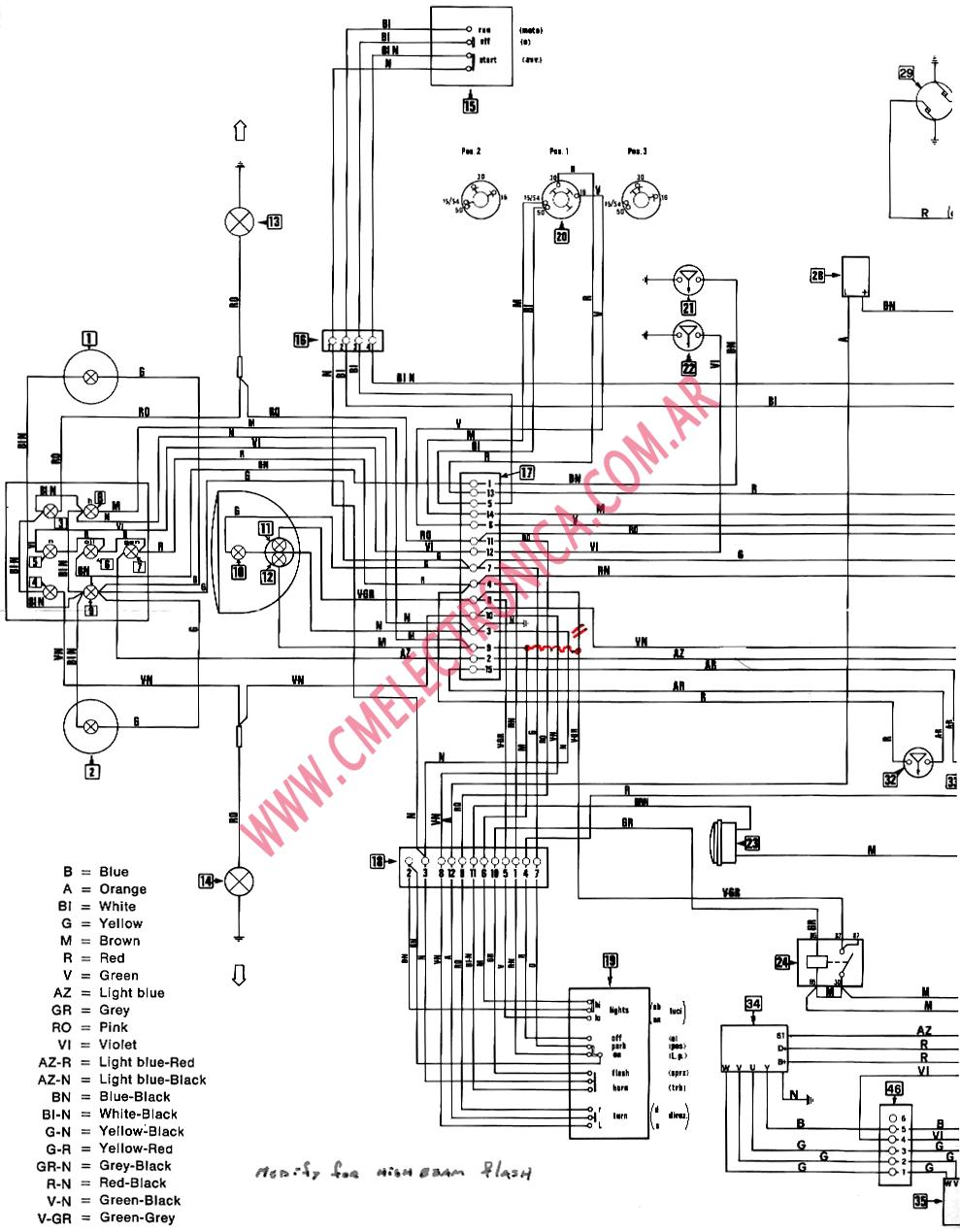 4 Pin Cdi Wire Diagram Chinese Image 5 Automotive Wiring Diagrams Moto Guzzi Flasher