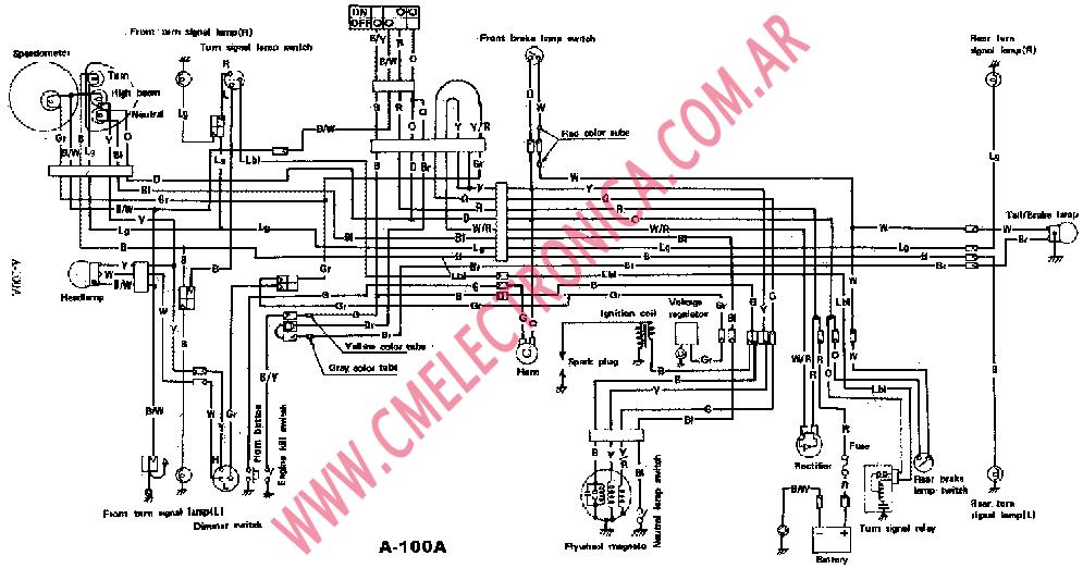 suzuki a 100a_dis suzuki a100 wiring diagram suzuki wiring diagrams instruction 2001 Yamaha at readyjetset.co