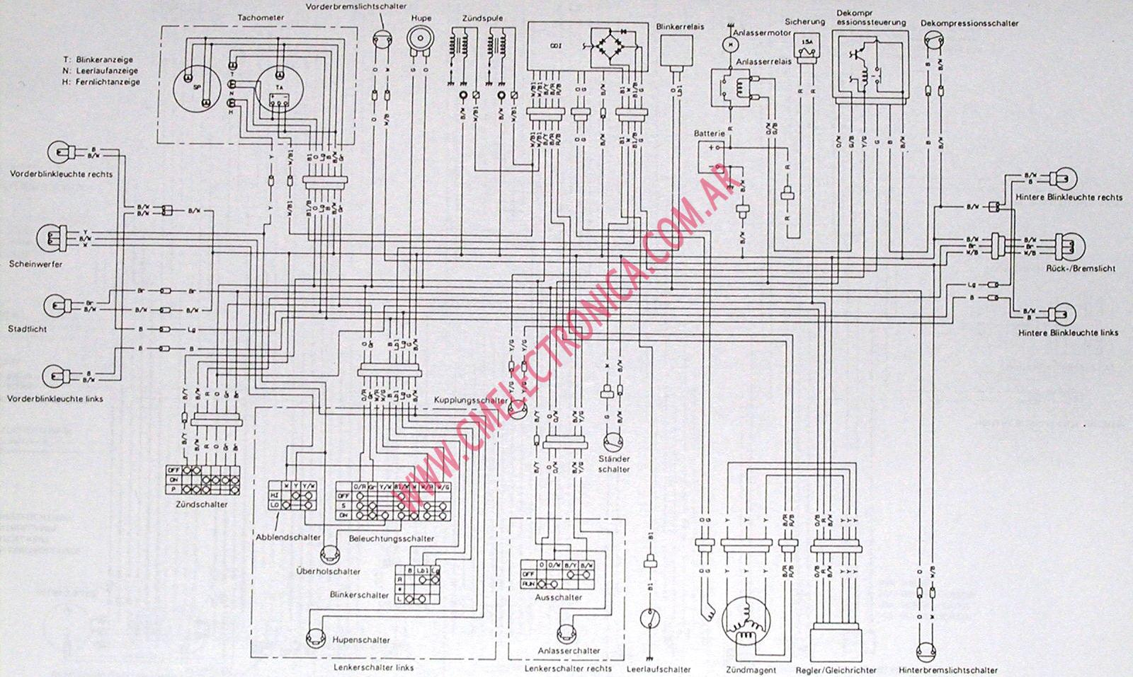 diagrama suzuki dr750, Wiring diagram