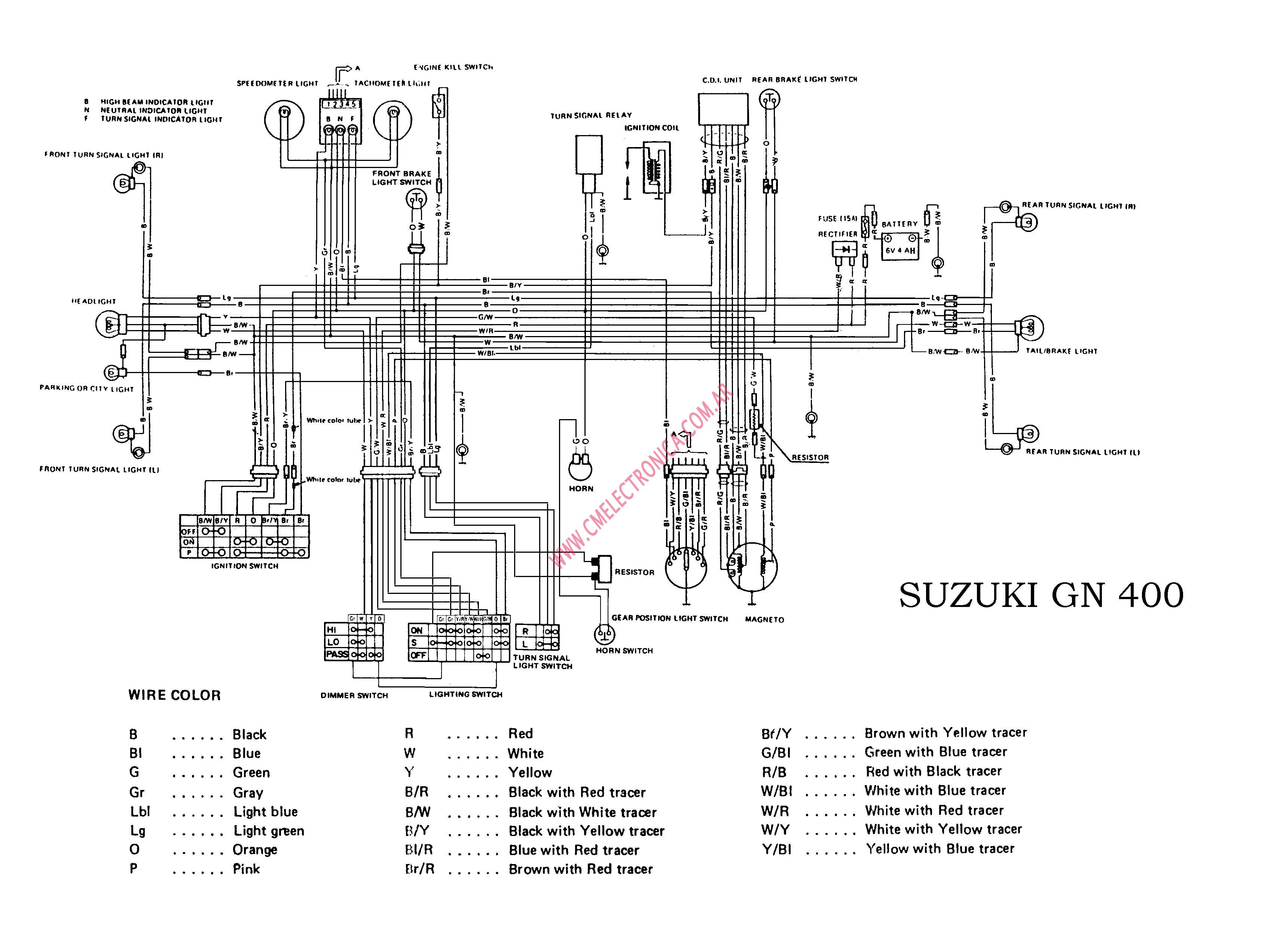 Diagrama Suzuki Gn400 Us