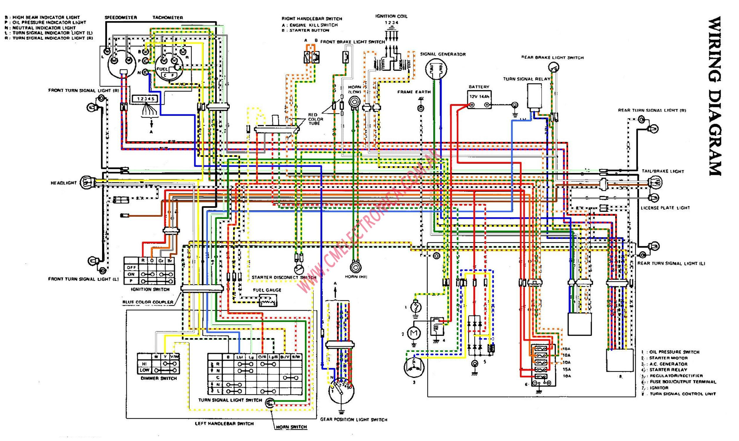 Gs750 Wiring Diagram Schematics Hyundai H100 Gs 750 Electrical Books Of