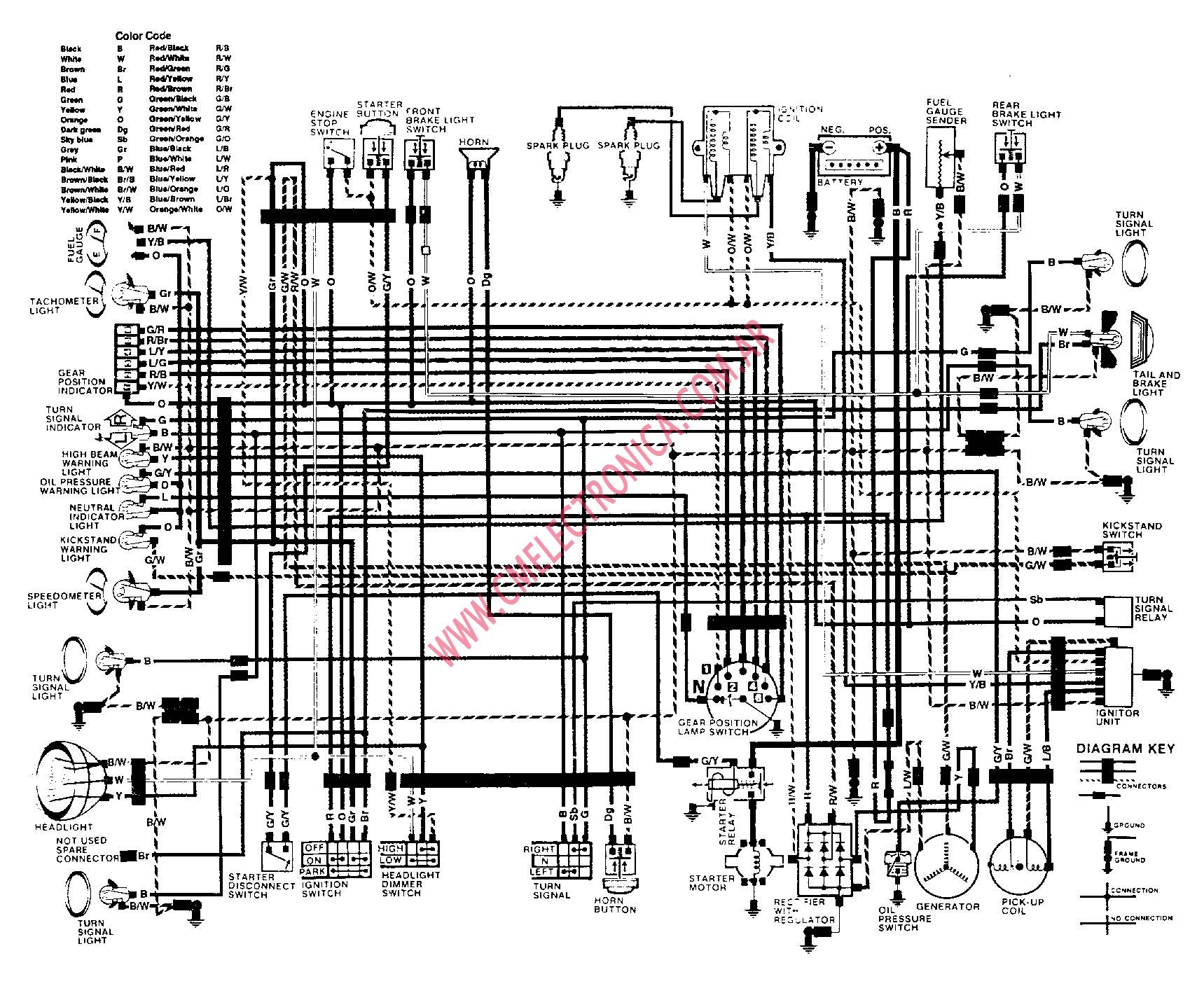 Diagrama Suzuki Gs450l