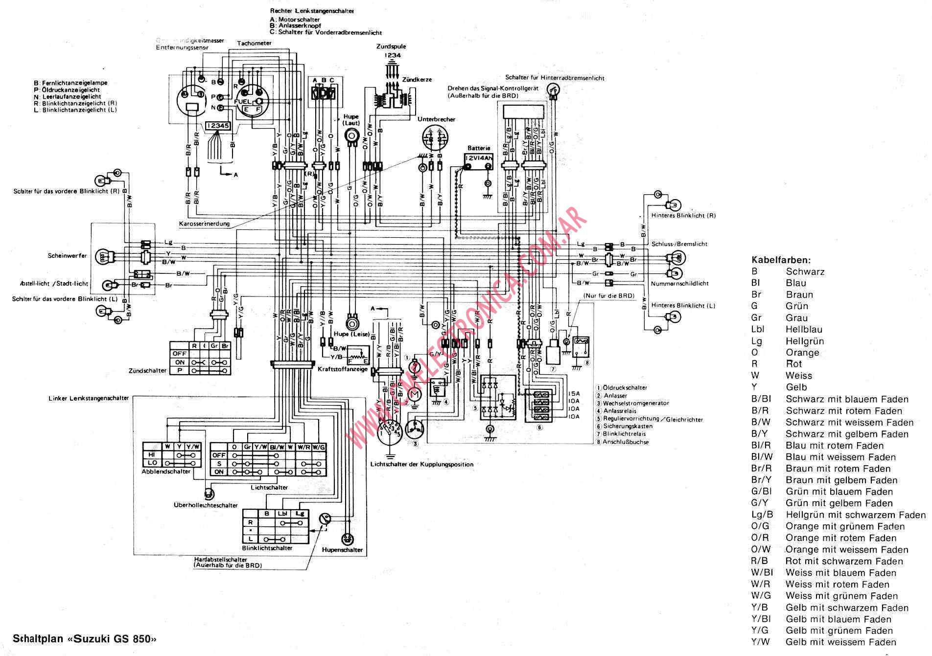 suzuki gs850 diagrama suzuki gs850 gs850g wiring diagram at n-0.co