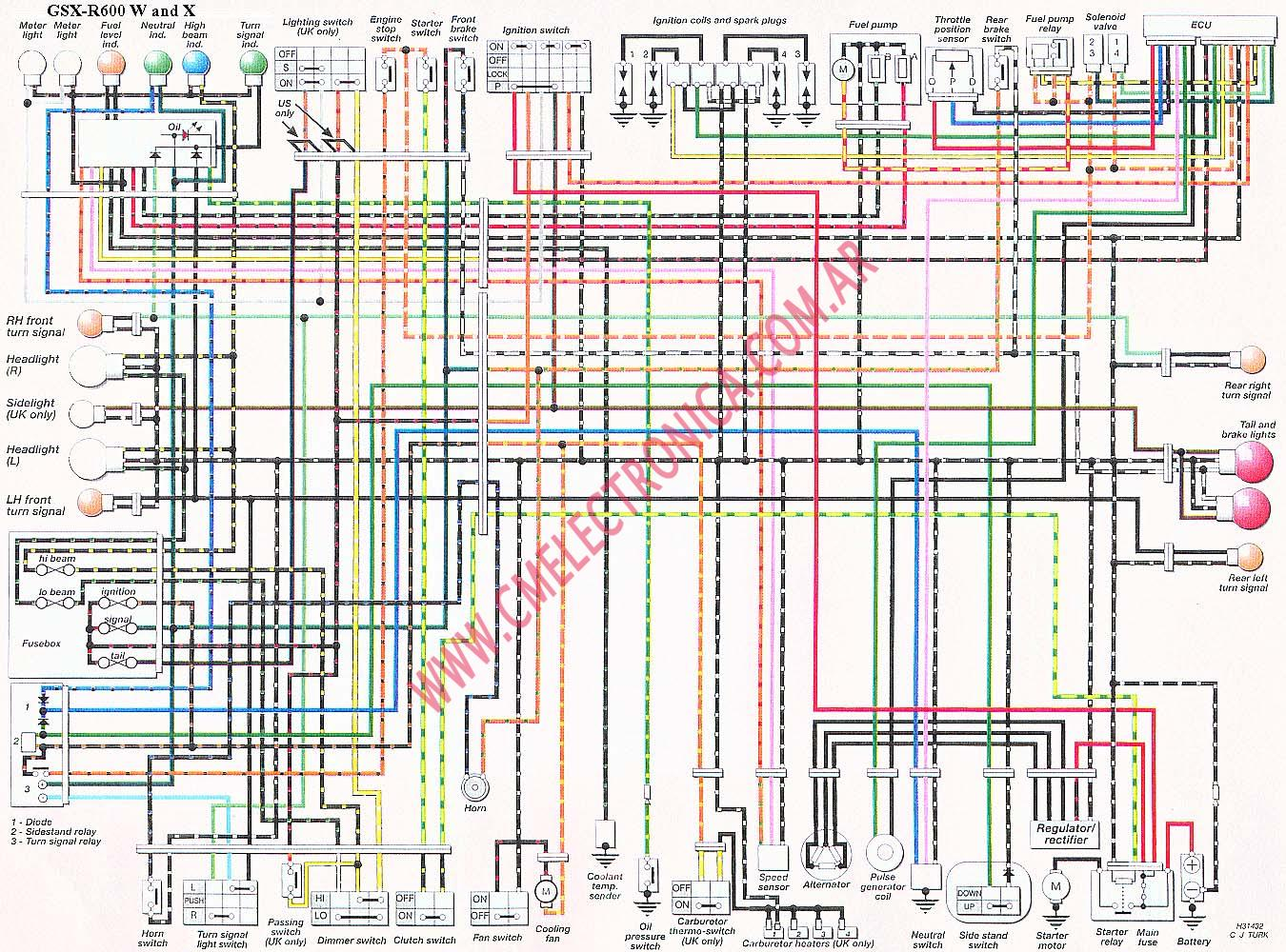 diagrama suzuki gsx r600 w x 2000 gsxr 750 wire diagram