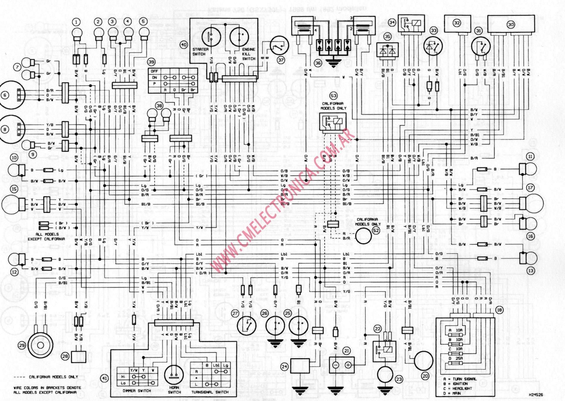 Diagrama Suzuki Gsx750f