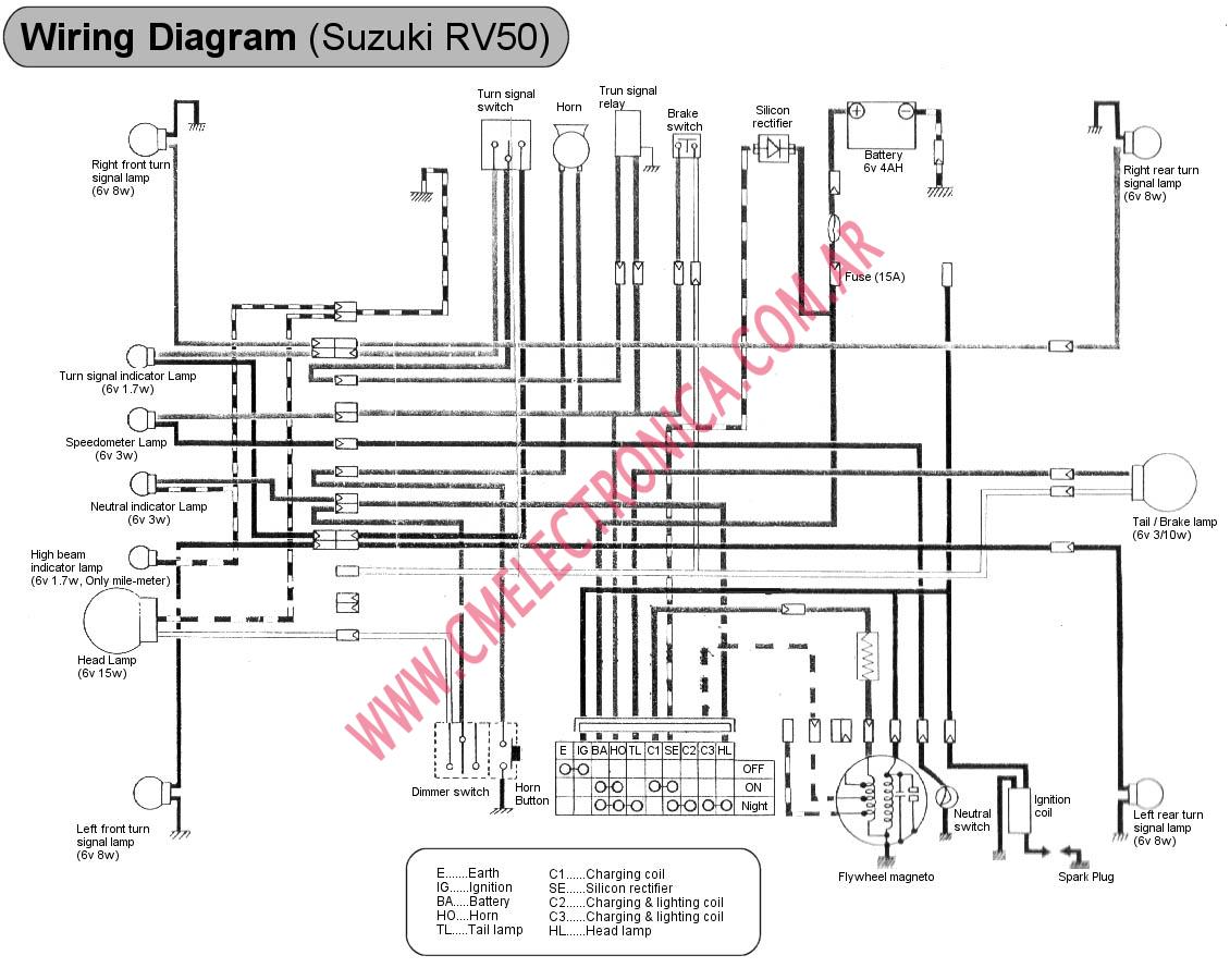 Suzuki 50 Wiring Diagram Schematic 2019 Yamaha Dt50 Diagrama Rv50 Dt Jr