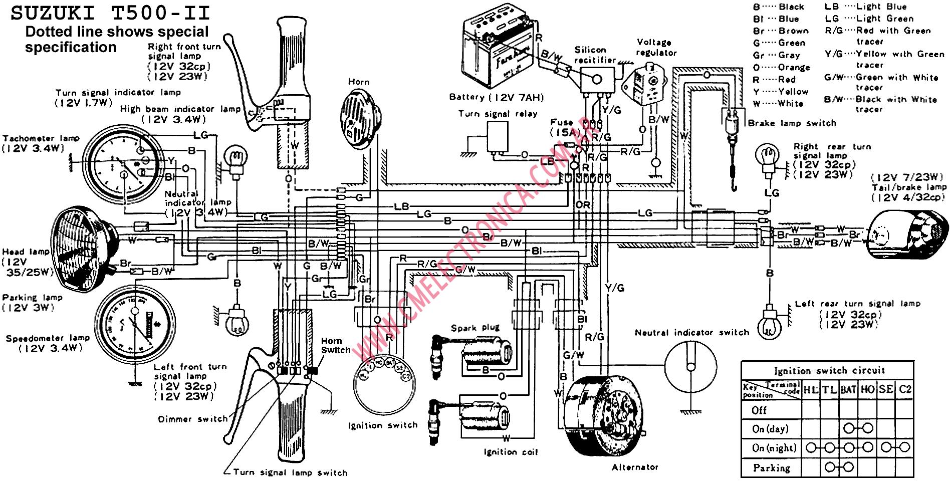 Suzuki Gt500 Wiring Diagram Auto Electrical For Cars Diagrama T500 Ii Large