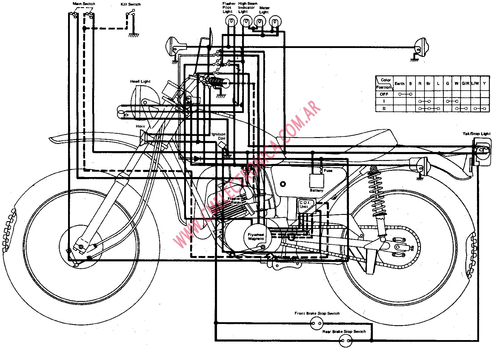 T5010804 Broke clutch push rod assembly 73 360 additionally Motorcycle Wiring Diagrams Yamaha Wr450 2004 additionally Yamaha Dt360 a additionally  on yamaha dt360 wiring diagram