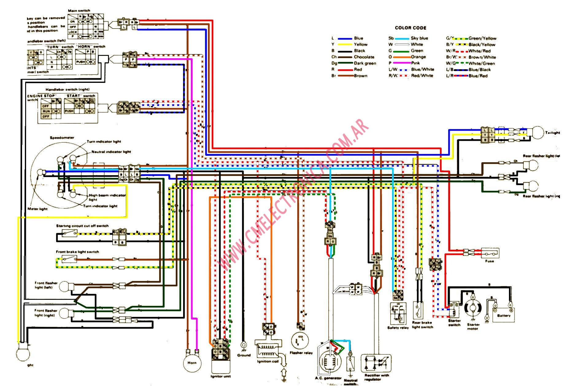 yamaha sr250 sr250 no start on button but yamaha sr250 wiring diagram at gsmportal.co