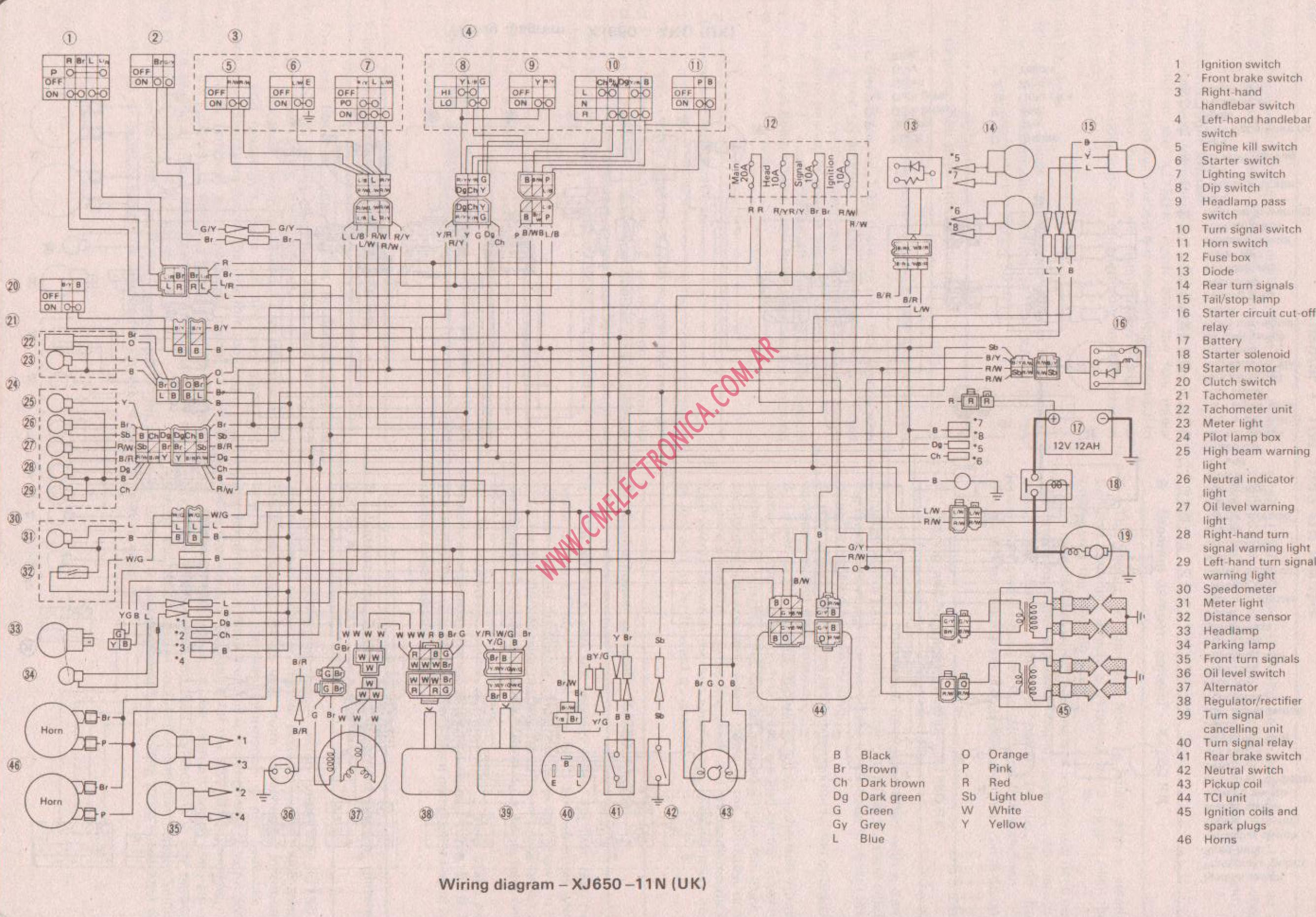 Xj650 Wiring Diagram Great Design Of 5r55w Xvs650 1980 Yamaha 81
