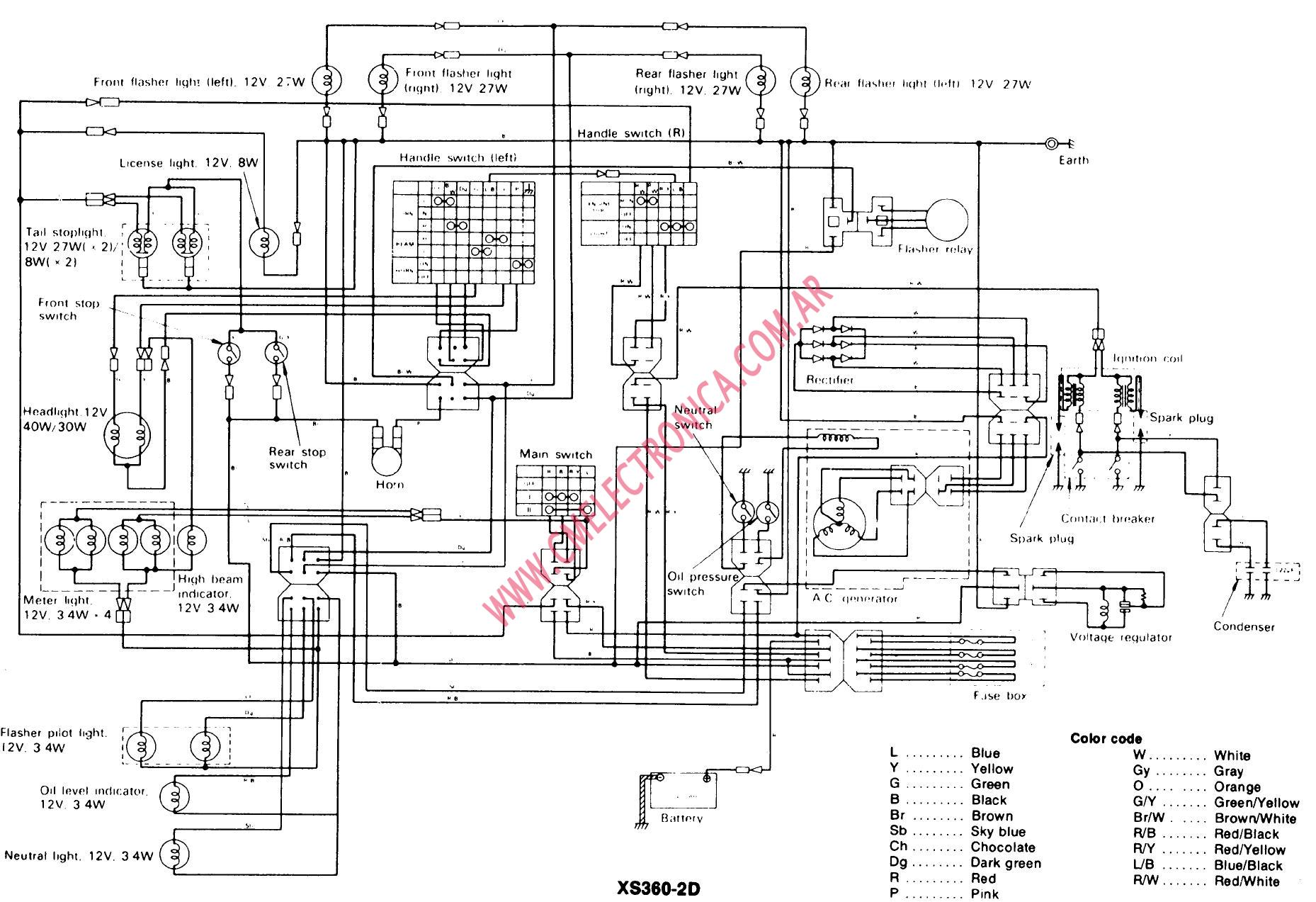 Xs360 Wiring Diagram Starting Know About Wiring Diagram \u2022 Yamaha Wiring  Code Xs Yamaha Wiring Diagrams