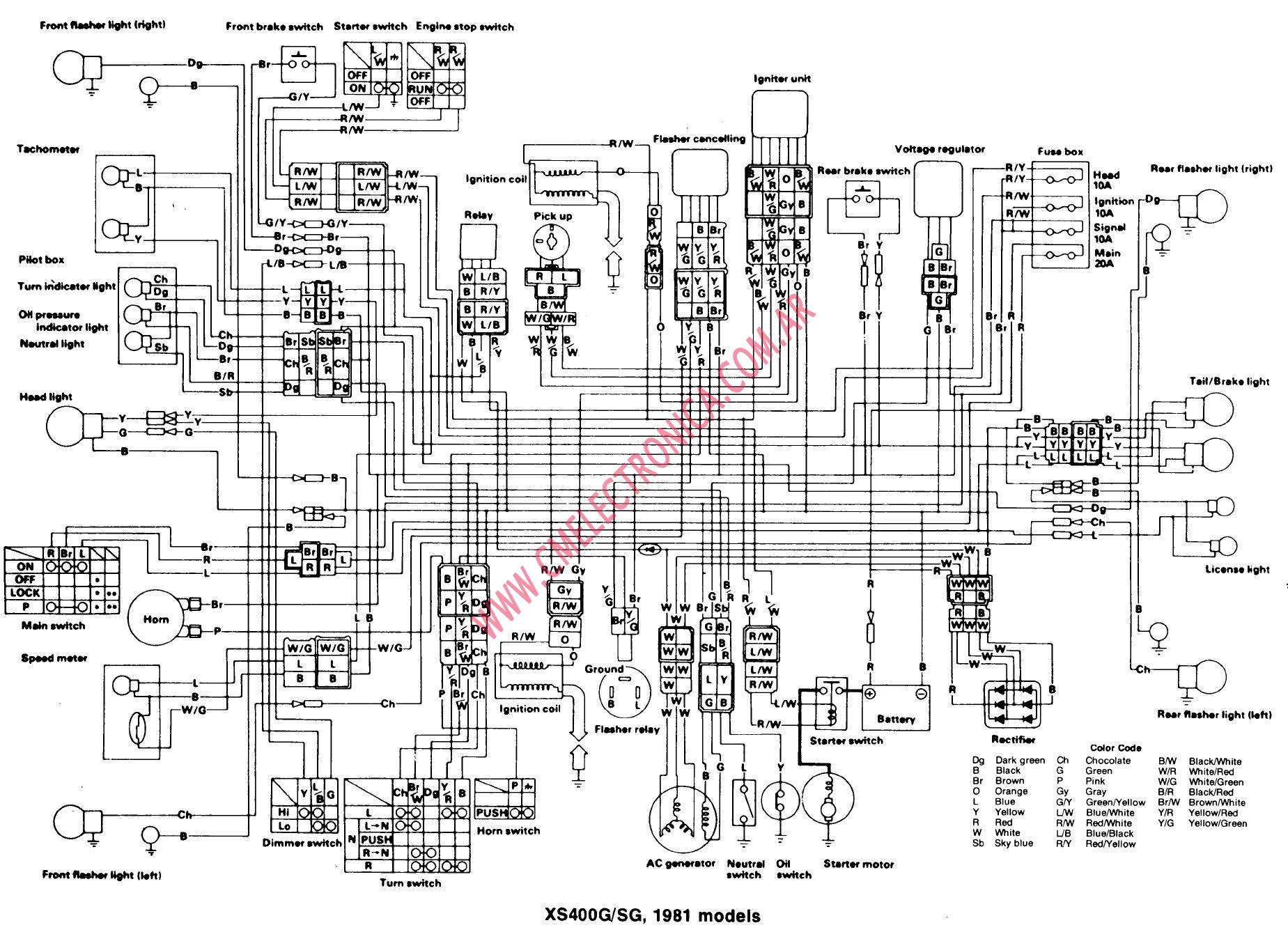 1981 xs400 wiring diagram   25 wiring diagram images