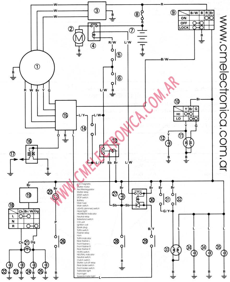 Wiring Diagram Yamaha : Yamaha xt wiring diagram free download