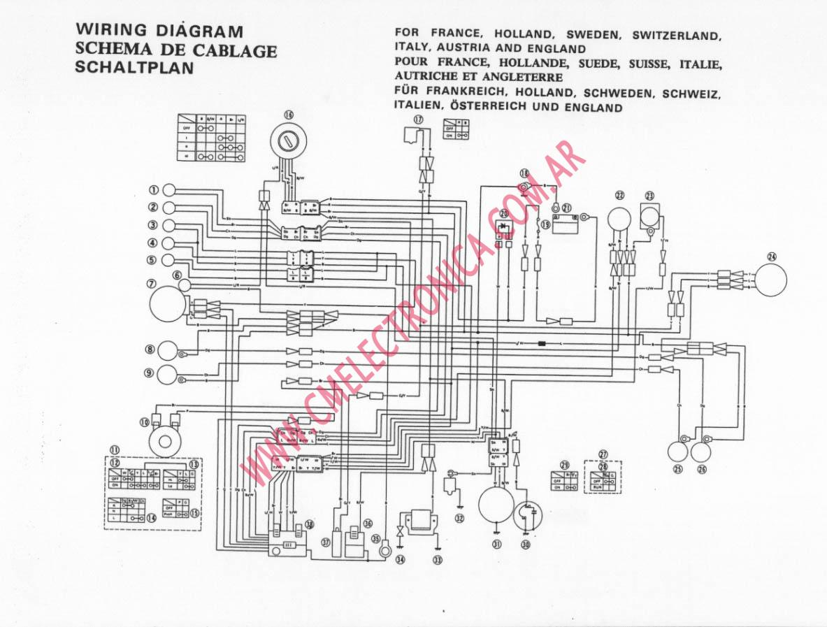 yamaha xt250 wiring diagram 1981 yamaha xs650 wiring diagram xt 500 wiring diagram - wiring diagram