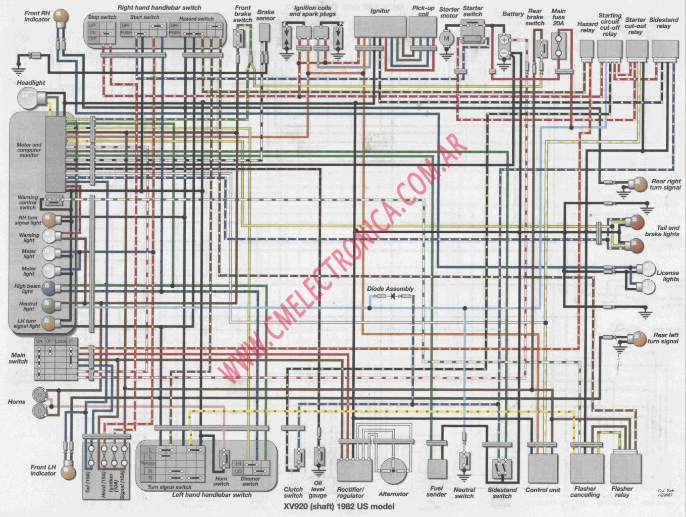 Diagrama Yamaha Xv920