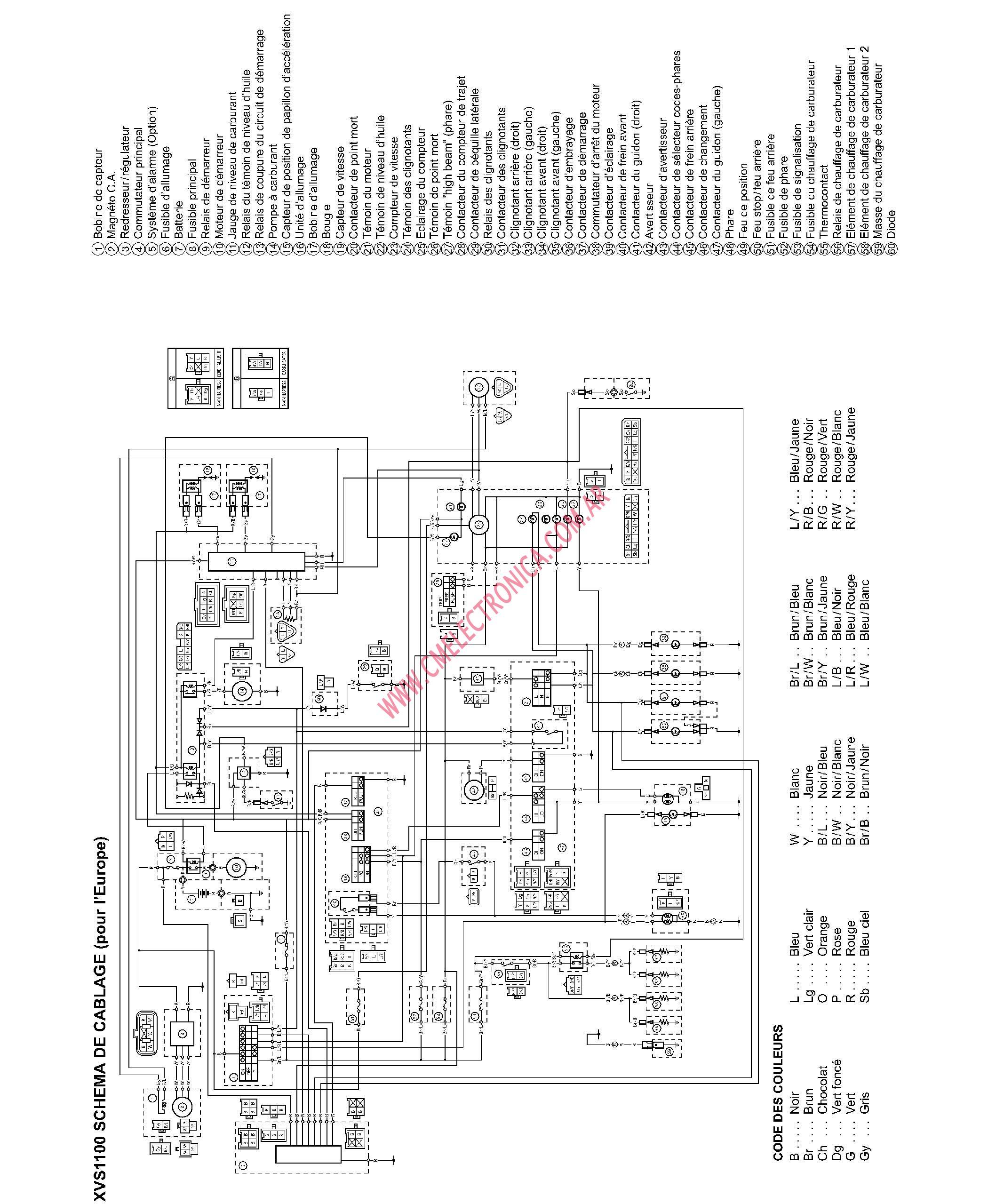 Diagrama Yamaha Xvs1100