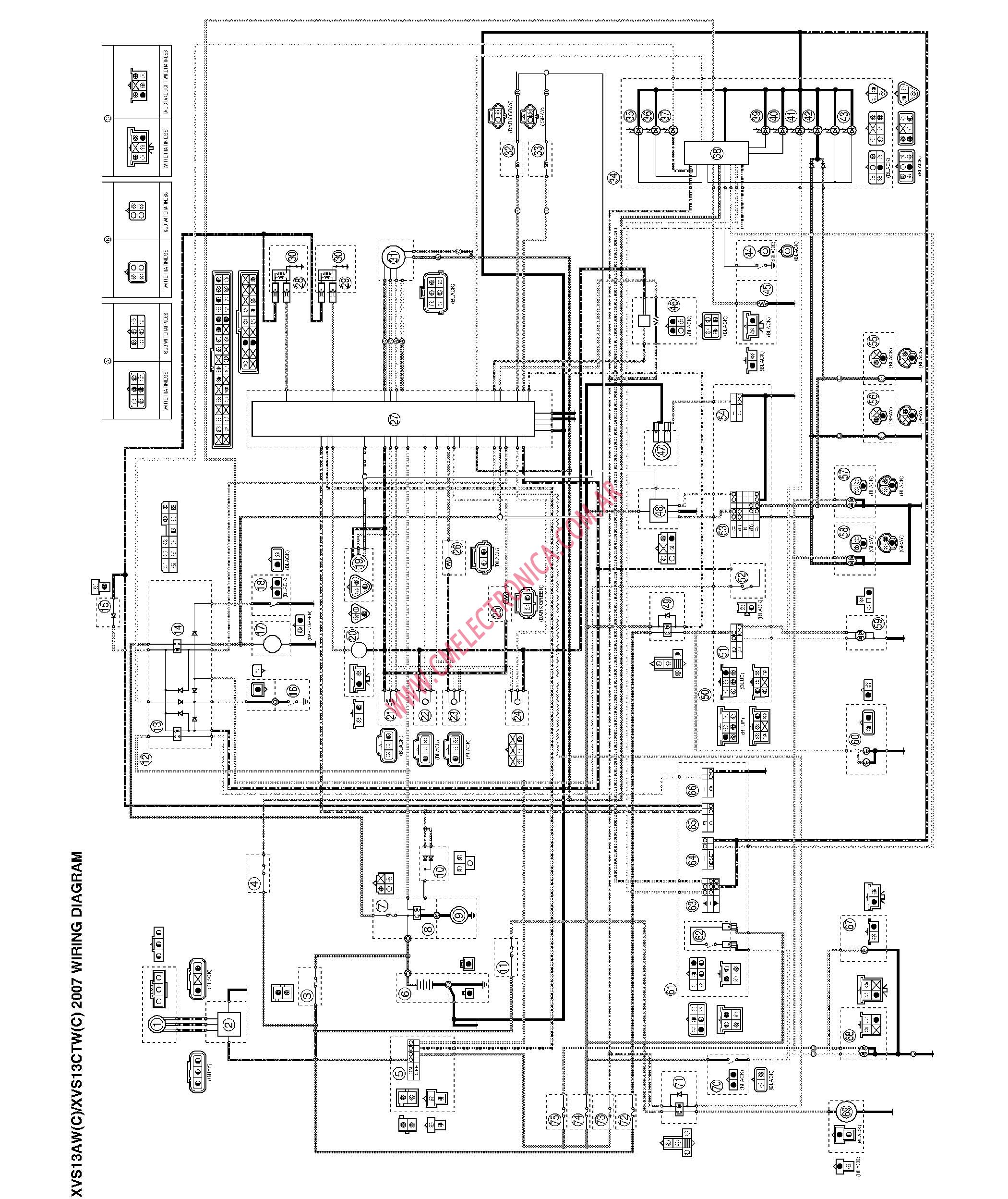 yamaha-xvs1300 Yamaha Outboard Wiring Diagram on kill switch, multifunction gauge, for 6hp, tilt trim gauge, digital tach, f25tlry, ford f150, f115txr, control box,
