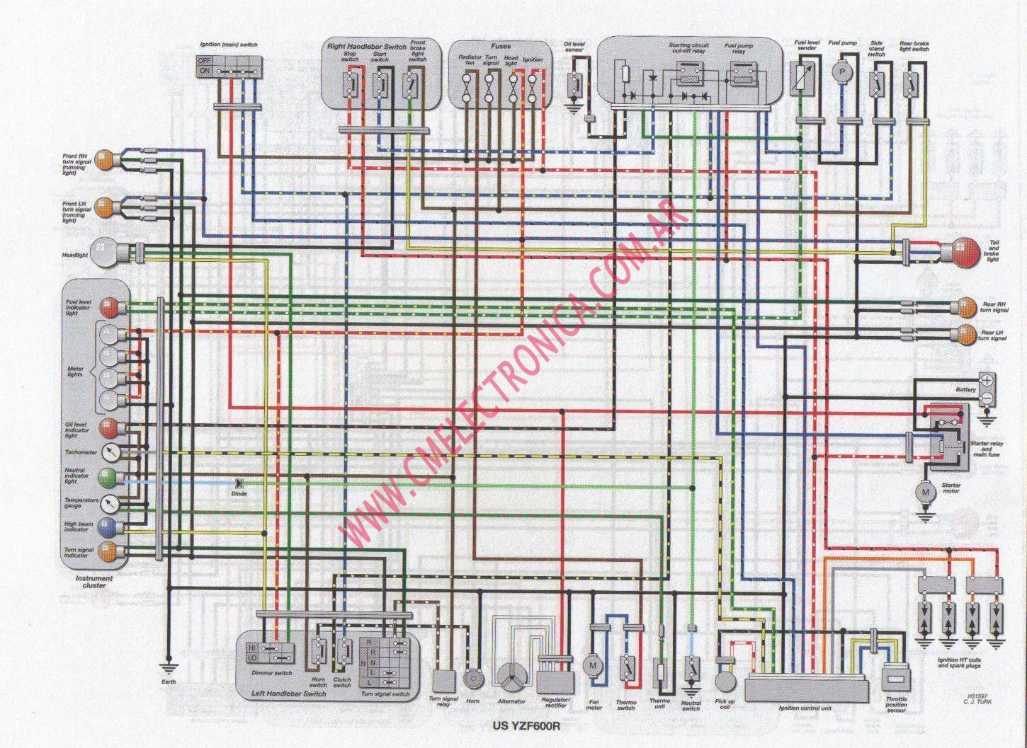 yamaha yzf600r wiring diagram for 2007 gsxr 600 the wiring diagram readingrat net 97 cbr 600 f3 wiring diagram at crackthecode.co